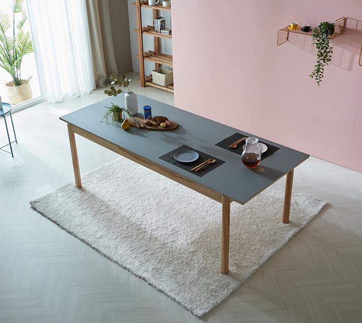 월터 6인 리노륨 사각 식탁 [의자 미포함] /월 45,800원