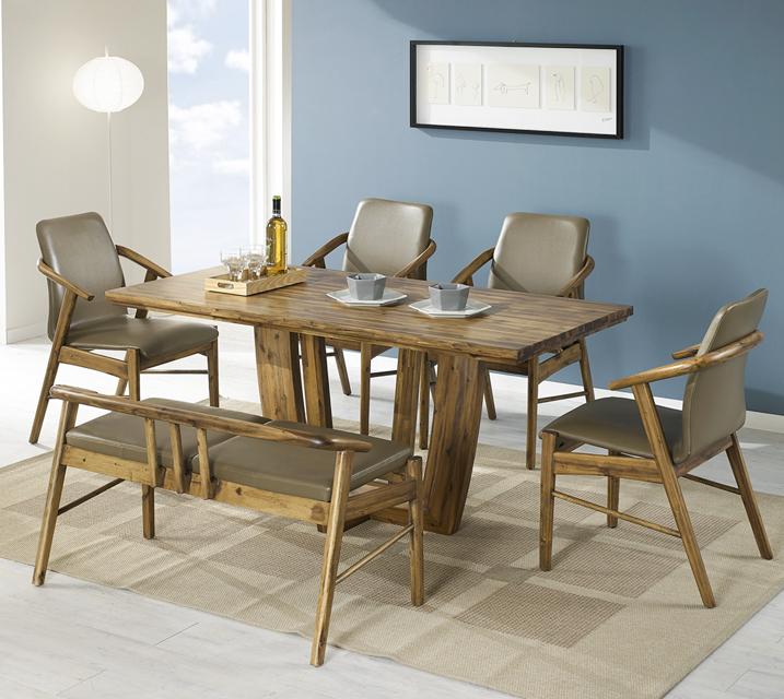 바네사 아카시아 원목 4인 식탁 세트 (의자형 / 의자4ea) / 월 29,800원