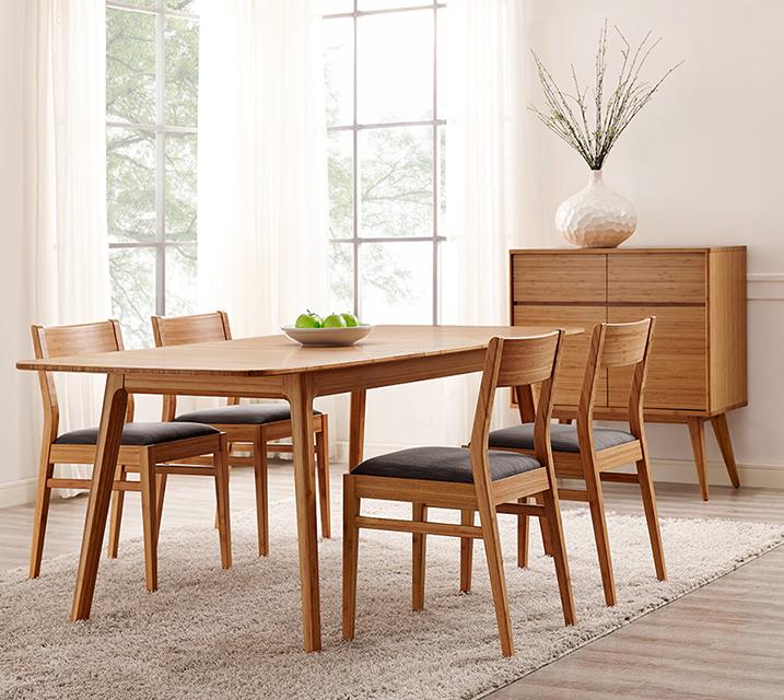 로흘 컬렉션 익스텐션 대나무 6인 엔틱 식탁 세트 [테이블+의자 6개] / 월 213,800원